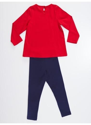 Denokids Ayıcıklar Kız Tunik Takım Kırmızı